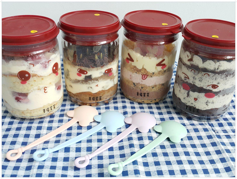 【蛋糕推薦】幸福菓菓罐子蛋糕 の  草莓白天使 & 努力 & 愛你  & 謝謝 ➽ 吃了會愛不釋手 -蛋奶素