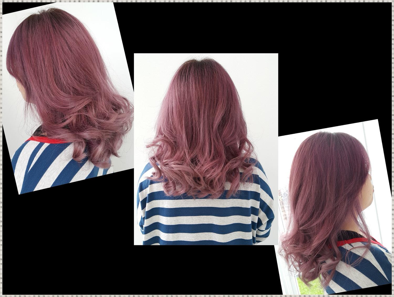 【台中染髮推薦】台中北區 台中一中街商圈 專業造型染髮護髮 ➽ IC Hair Design の  染髮 & 護髮 (迷霧紫)