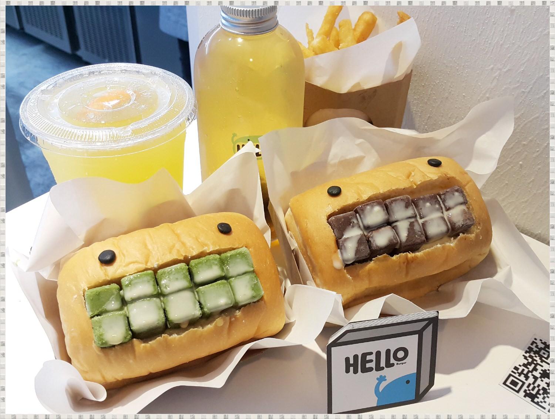 ➽小吃。推薦 輕鬆簡單邊逛街邊吃漢堡 Hello Burger の 甜漢堡 (台中/西屯區) – 蛋奶素