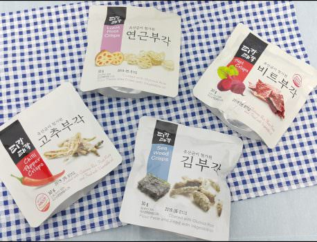 【零嘴解饞】韓國零食  BUGAK 菜炸片 の 蔬菜脆片餅乾 ➽ 韓國江原道束草特產 – 全素