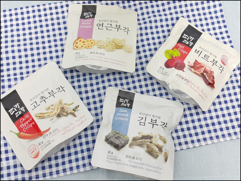 ➽團購。超級推薦 韓國江原道束草特產 韓國零食  BUGAK 菜炸片 の 蔬菜脆片餅乾 – 全素