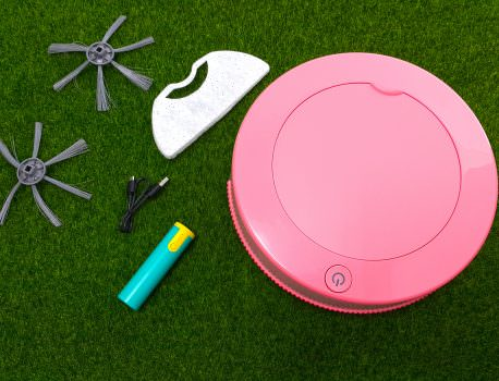 ➽美食。超級推薦 小資女居家必備 隨時隨地輕鬆掃地  iCLEAN淨系列 の 小粉甜甜圈掃地機器人(草莓紅) – 內附影片