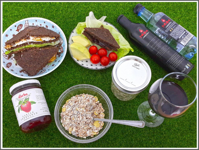 【進口野餐組合推薦】春季野餐也可以很高級 一起野餐去~ ➽ 廣紘國際 の 西班牙CABRIEIROA 汽泡水/礦泉水 & 奧地利 紅葡萄汁/草莓果醬 & 德國黑麵包 &  德國 Mega Harvest/Viola 穀片