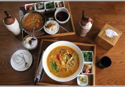 【馬來西亞蔬食餐廳推薦】道地的馬來西亞蔬食料理,聚餐最佳選擇 ➽ 熱浪島南洋蔬食茶堂 の 娘惹咖哩煲 & 叻沙麵 & 恐龍奶茶 & 酷斯拉美祿 (台中/南屯區)