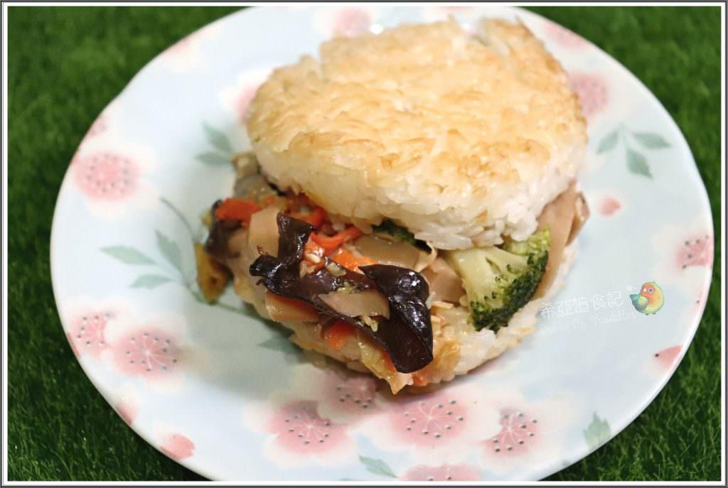 素食米漢堡