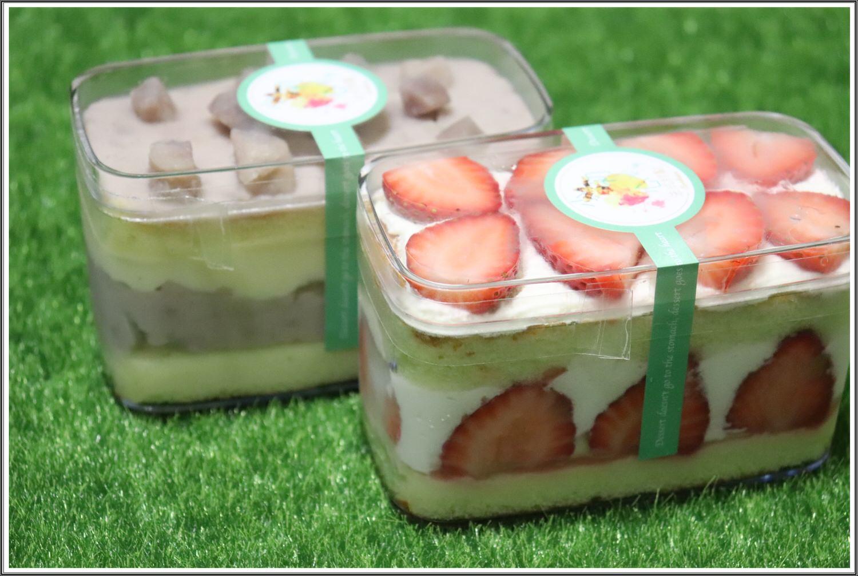 【桃園下午茶推薦】就是只要芋頭和草莓,甜滋滋好美味 ➽ 小初心法式甜點 の 草莓小巴 & 芋見小巴